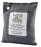 Moso Natural Air Purifying Bag. Odor Eliminator for Cars  Closets  Bathrooms and Pet Areas. Charcoal Color  200-G