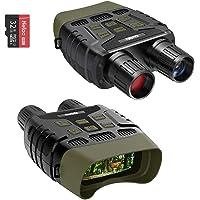 Gafas de visión nocturna, monocular, visión nocturna IR de larga distancia, imagen HD 960P con tarjeta de 32 GB para…