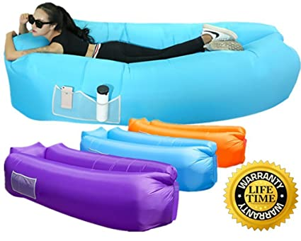 omiki impermeable – Sofá inflable Aire – Tumbona, hinchable de aire rápida Inflación de Wind