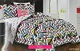 Dot and Dash 4pc Full Comforter Set ''Lyl Laney'' Good Vibes, Fun, Rainbows