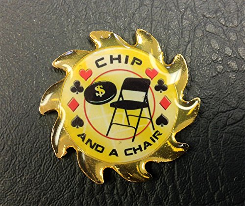 Chip and A Chair Gold Spinner Card Guard - Poker Gaming Chair