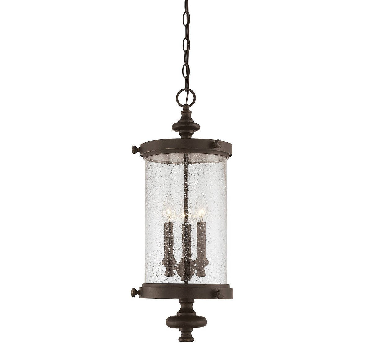 Savoy House 5-1222-40 Three Light Palmer Hanging Lantern in Walnut Patina
