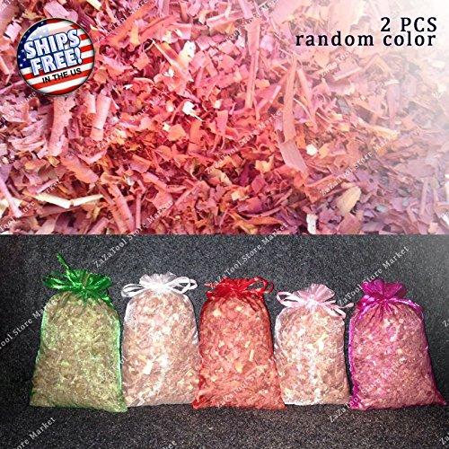 ZaZaTool 2pcs 5X7 Red Cedar Sachet Bags/Moth Protection/Fragrant/Drawer/Wood Shaving