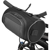 Ajcoflt Bolsa para guidão de bicicleta Bolsa para balde de bicicleta com tela de toque Bolsa de armazenamento frontal…