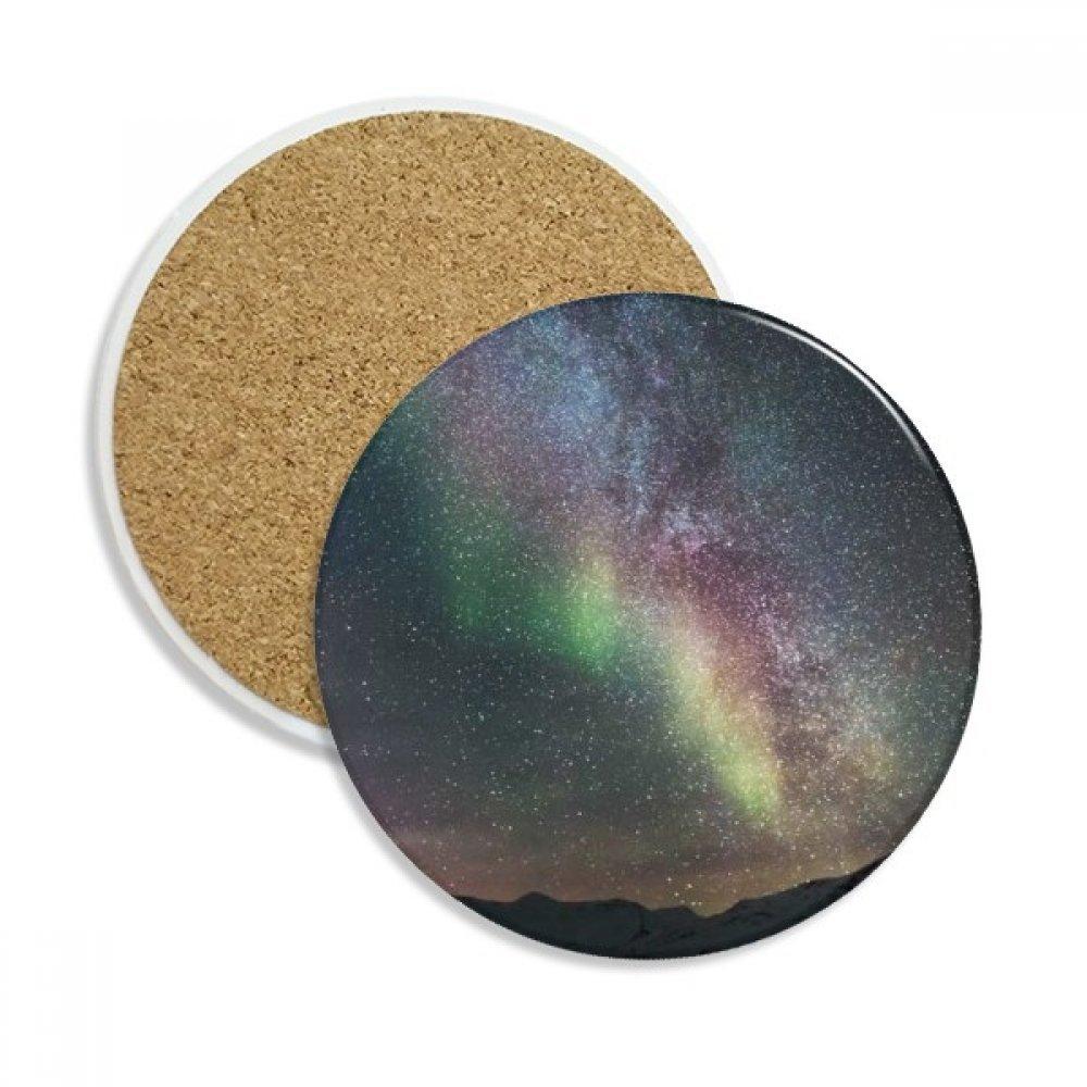 Galaxy Beautiful Stars ダークセラミックコースターカップマグホルダー ドリンク用吸収ストーン 2個 ギフト   B0761S2K65