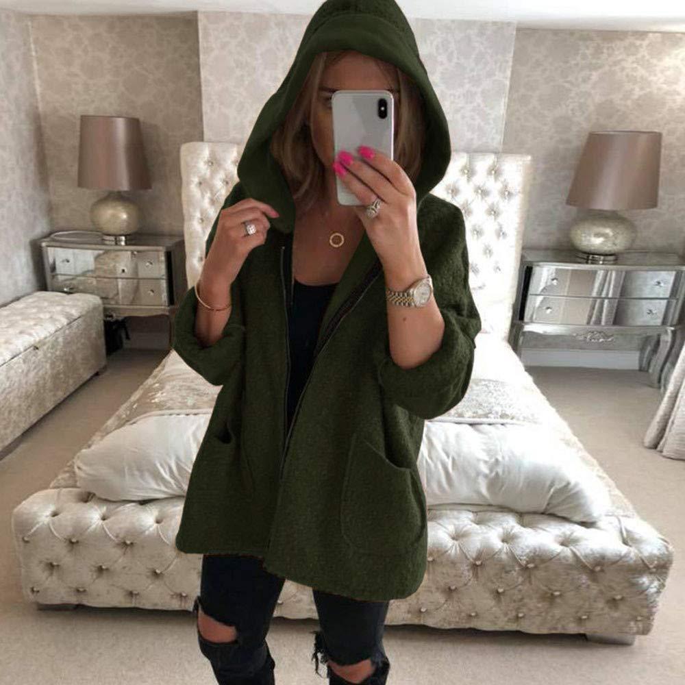 Amazon.com: Women Hooded Long Coats Jacket Hoodies Parka ...