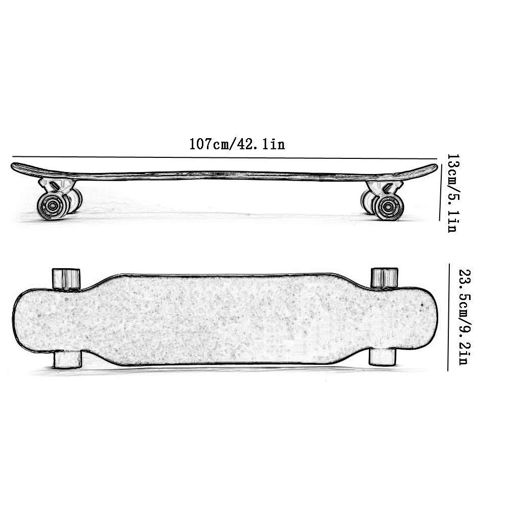 KYCD Anfänger Erwachsene Longboard Jungen und Mädchen Mädchen Mädchen 4 Runde Roller Road Brush Street Double Dance Board (Farbe   C) B07PZ3RC1N Longboards Charmantes Design a9287f