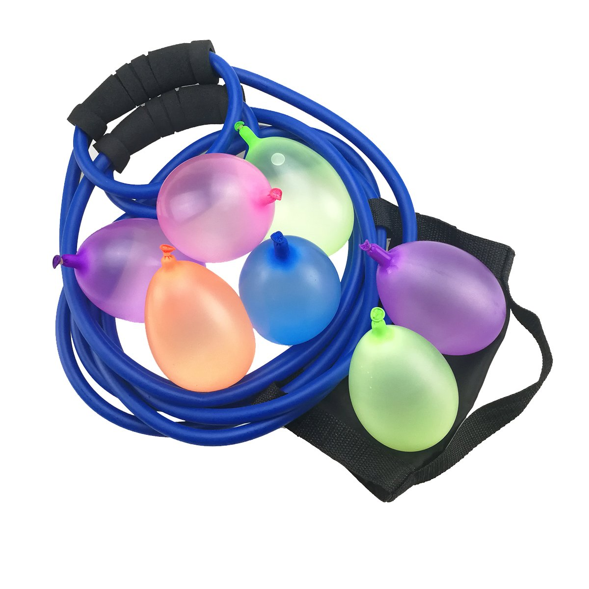 TiMi Tree Water Balloon Launcher 500 Yards, Heavy Duty Water Balloon Cannon / Slingshot Fun Water Balloon Fight Pool Party Toy,3 Person Giant Angry Birds Summer Beach Games,500 Balloons & Carry Case
