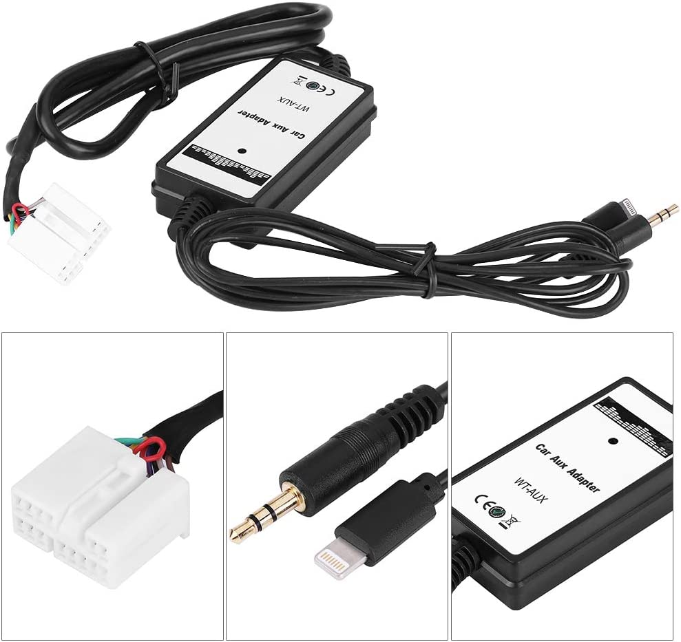 Car AUX Adapter with USB Charger for Accord 07-11 iphone 5 6 6s 3.5mm AUX Adapter