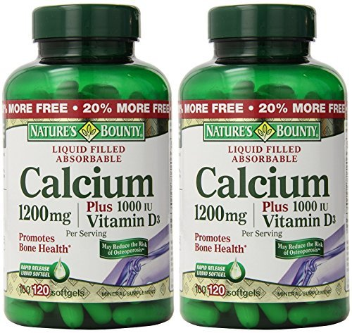 (Nature's Bounty Calcium 1200 Mg. Plus Vitamin D3, 240 Softgels (2 X 120 Count Bottles))