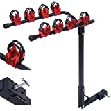"Comie 4 Bicycle Bike Rack Carrier 1-1.4"" & 2"" Bicycle Hitch Mount Carrier Car Truck AUT Swing Away"