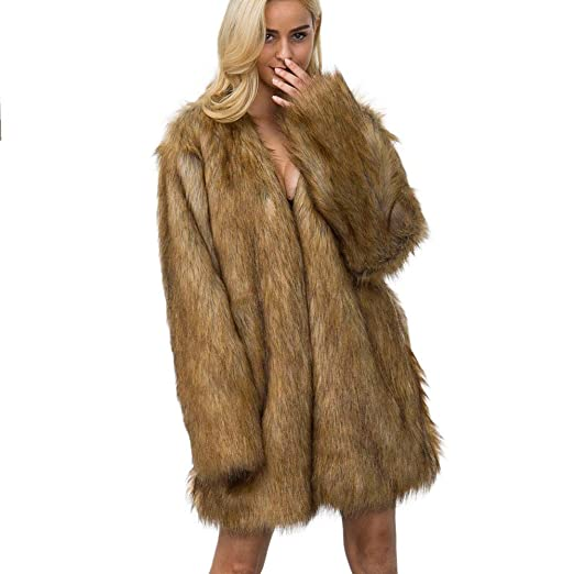 564fdff5b66e0 Image Unavailable. Image not available for. Color  Inverlee New Ladies  Womens Warm Faux Fur Coat Jacket Winter Parka Outerwear