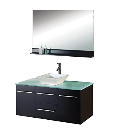 Virtu USA MS-420-G-ES Marsala 48-Inch Wall-Mounted Single Sink ... on martha stewart seal harbor bathroom vanity, distressed cream bathroom vanity, 40 bathroom vanity, 30 inch bathroom vanity, single basin bathroom vanity, 48 single bathroom vanities, dresser bathroom vanity, long single sink vanity, white single sink vanity, 60 inch single bathroom vanity, trough sinks bathroom vanity, 24 inch sink vanity, sheffield bathroom vanity, cheap single bathroom vanity, french provincial bathroom vanity, sale home depot bathroom vanity, lowe's unfinished bathroom vanity, bathroom cabinets over vanity, mocha bathroom vanity, diy pallet bathroom vanity,