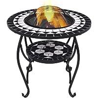vidaXL Mesita de Jardín con Brasero Mesa de Exterior con Estufa de Candela Fuego…