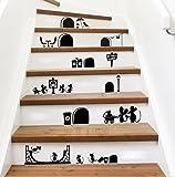 Ufengke® Fumetto Simpatico Mouse Fori Adesivi Murali, Camera Dei Bambini Vivai Adesivi Da Parete Removibili Stickers Murali Decorazione Murale Nero