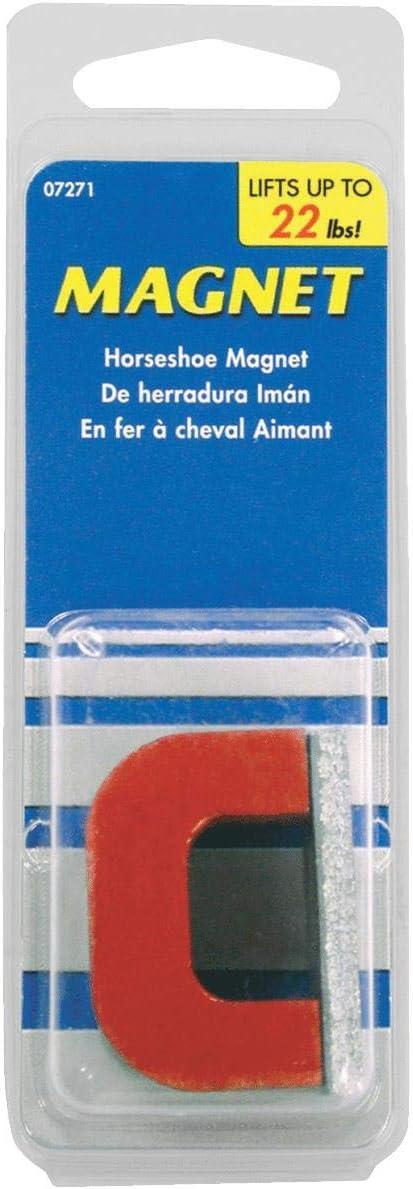 MASTER MAGNETICS #07271 4OZ RED Horsesh Magnet