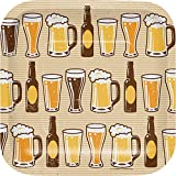 Creative Converting 322281 96 Count Dessert/Small Square Paper Plates, Cheers and Beers