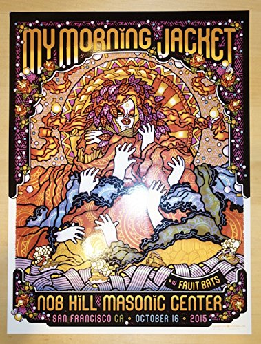 2015 My Morning Jacket - San Francisco II Silkscreen Concert Poster by Guy Burwell (San Francisco Lithograph)