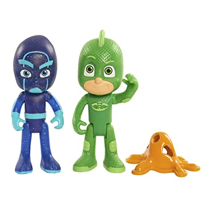 Amazon Com Just Play Pj Masks Figure Pack Set Gekko Night Ninja