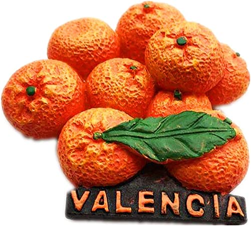 Hqiyaols Souvenir Naranja Valencia España Refrigerador 3D Imán de Nevera Ciudad de Viaje Recuerdo Colección Cocina Decoración Pizarra Blanca Etiqueta de Resina: Amazon.es: Hogar