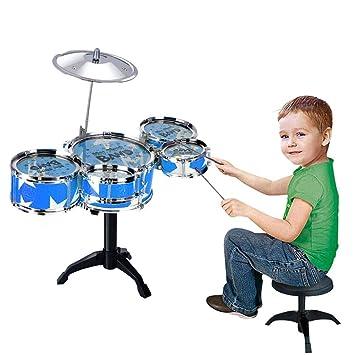 Amazon Com Womdee 16 Pieces Kids Jazz Drum Set 5 Drums 2 Sticks