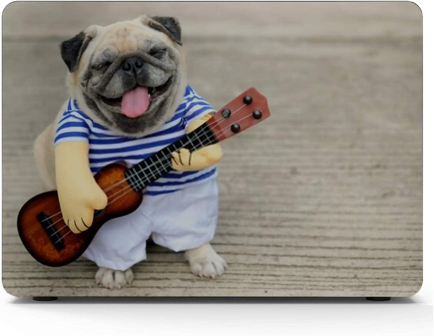 MacBook Pro Case Indy Musician Guitarist Pug Dogfunny Dog MacBook Air 11 //A1370//A1465Plastic Case Keyboard Cover /& Screen Protector /& Keyboard Clean