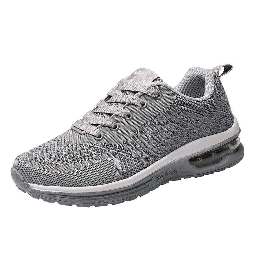 Dé gagement!! Chaussures de sport en tissu dé contracté es tissé es Air trainers Fitness Flats Running Sneakers de compé tition sportive LSAltd