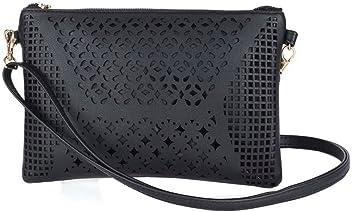 Jiaruo Women Vintage Girls Hollow Out Sling Leather Crossbody Bag Handbag  Purse 39d5b8a76ee91