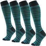 SUTTOS Men's Women's Unisex Knee High Cotton Soft Long Dress Socks,1-4 Pairs