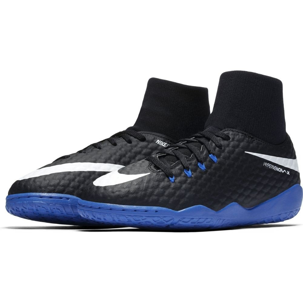 cb9686f33 NIKE HYPERVENOM PHELON 3 DF IC 917774-002 NERO-BLU - Scarpe da calcetto  junior indoor  Amazon.it  Sport e tempo libero