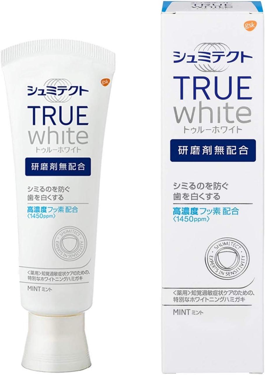 薬用シュミテクト トゥルーホワイト 研磨剤無配合 知覚過敏予防  歯磨き粉 のサムネイル