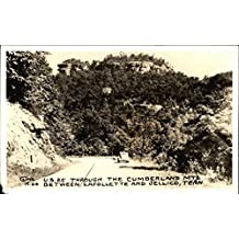 US 25 Through the Cumberland Mountains Jellico, Tennessee Original Vintage Postcard