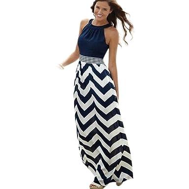 51334b64889aa6 Jaysis Damen Kleid Sexy Lange Maxi Abend Party Strandkleider: Amazon ...