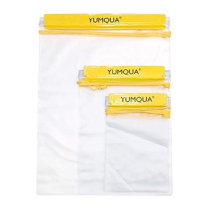 Amazon.com: Yumqua Bolsas transparentes impermeables, bolsas ...