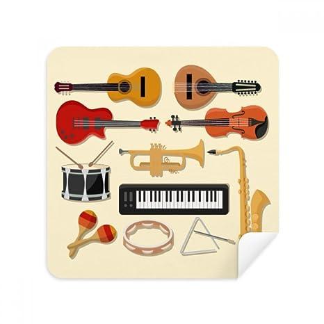 DIYthinker Piano eléctrico trombón música de la Guitarra de los vidrios del Trapo de Limpieza de