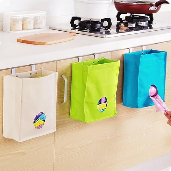 Amazon.de: Merssavo Küchenschrank Türen Taschenhalter Wandhalterung ...