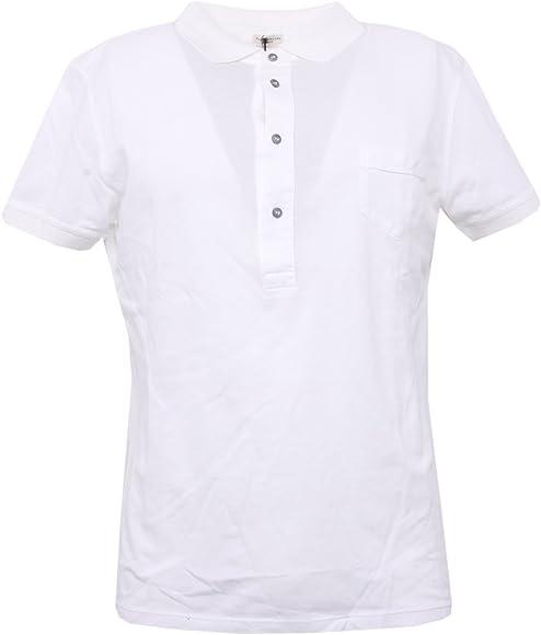 B3327 polo uomo PAOLO PECORA bianco manica corta t-shirt polo men ...