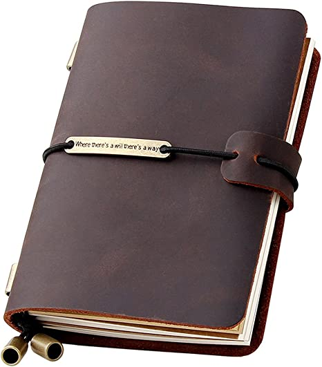 Handmade Travelers Notebook, Leather Travel Journal