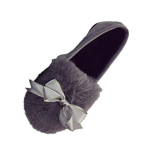 Longra Donne Bow mocassino-Gommino (EU Size:38, Grigio)