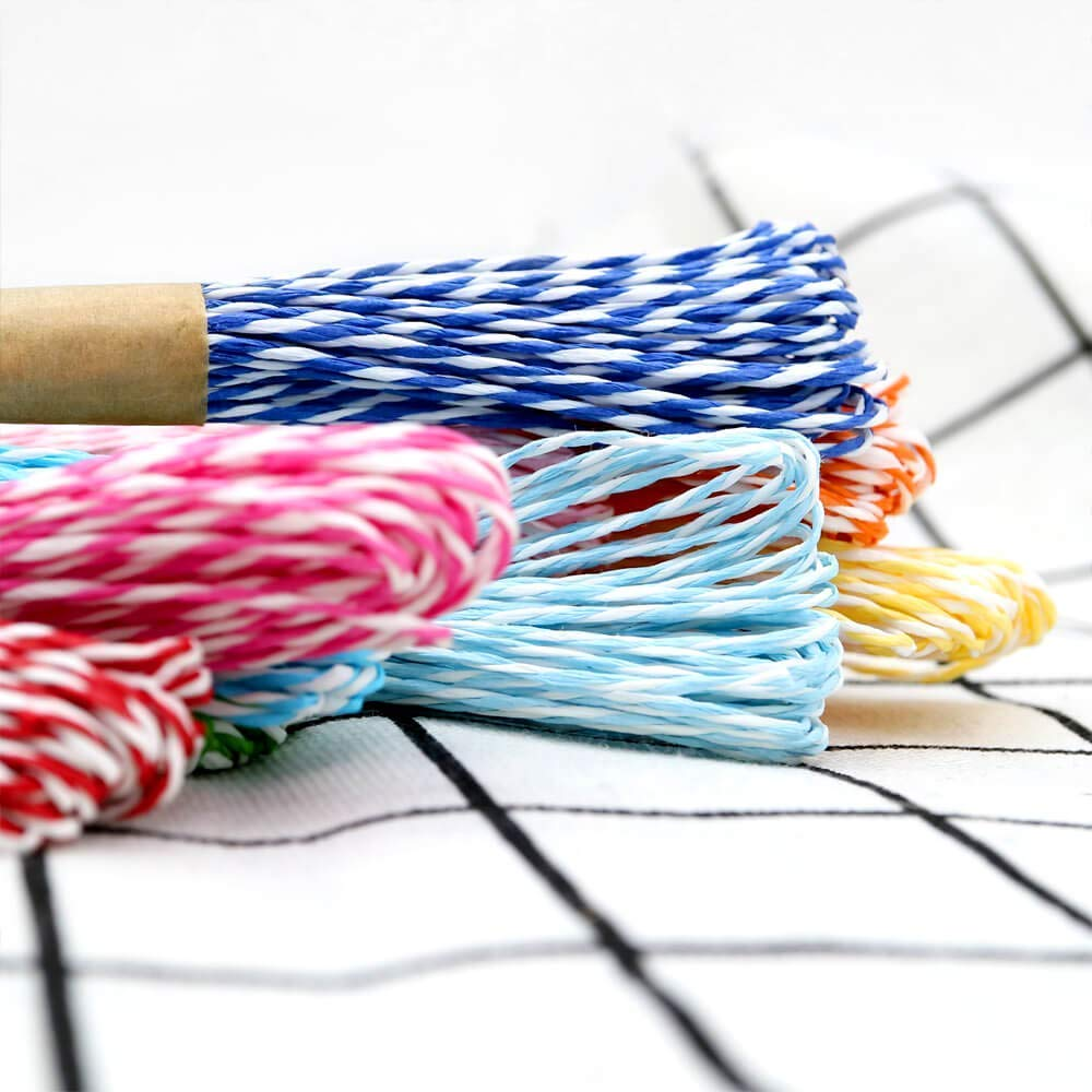 Raffia String,12 Colors Paper Striped String,2mm Gift Packing Craft String,DIY Making String-10M of Each Color,Total Length 120 Meters