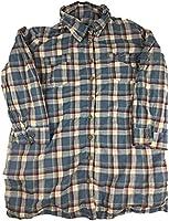 Bandolinoblu Women's Plaid Flannel Button-down Shirt Blue Small