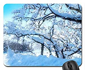 The Long Winter Mouse Pad, Mousepad (Winter Mouse Pad, Watercolor style)