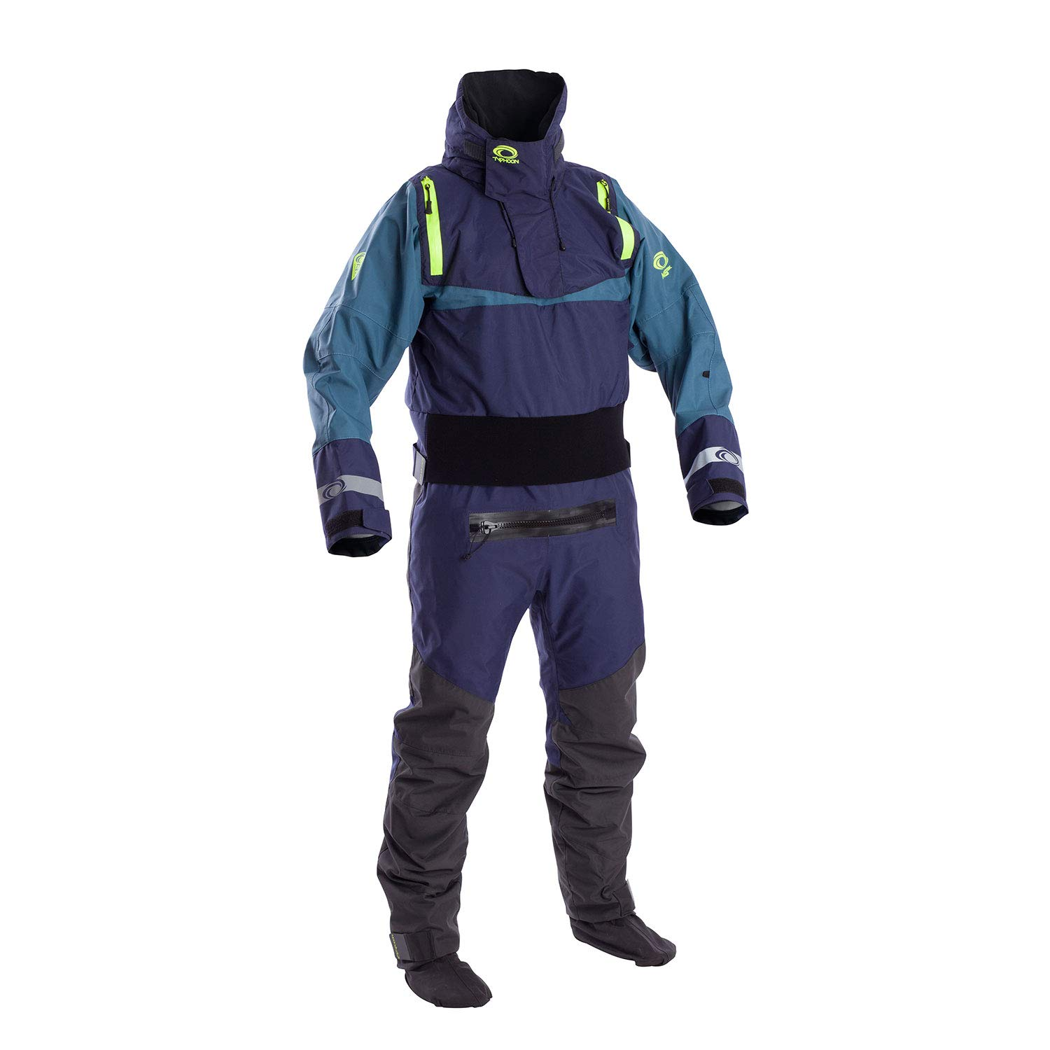 Large Typhoon Multisport SK Drysuit with Con Zip 2019  Teal Green