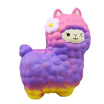 Cheap Price 12cm Squishy Galaxy Cartoon Sheep Scented Charm Scented Squishy Slow Rising Cute Jumbo Strap Soft Squeeze Toy Gift Kid Fun Toys & Hobbies