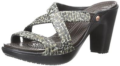 cfc70057b779 Crocs Women s Cyprus IV Sparkle Leopard Heel Dress Pump