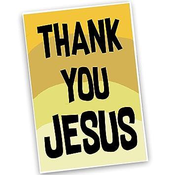 amazon thank you jesusイエローandブラックポスター2サイズavailable