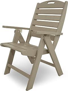 product image for POLYWOOD NCH38SA Nautical Highback Chair, Sand