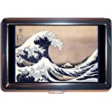 The Great Wave Japanese Woodblock Stainless Steel ID or Cigarettes Case (King Size or 100mm)