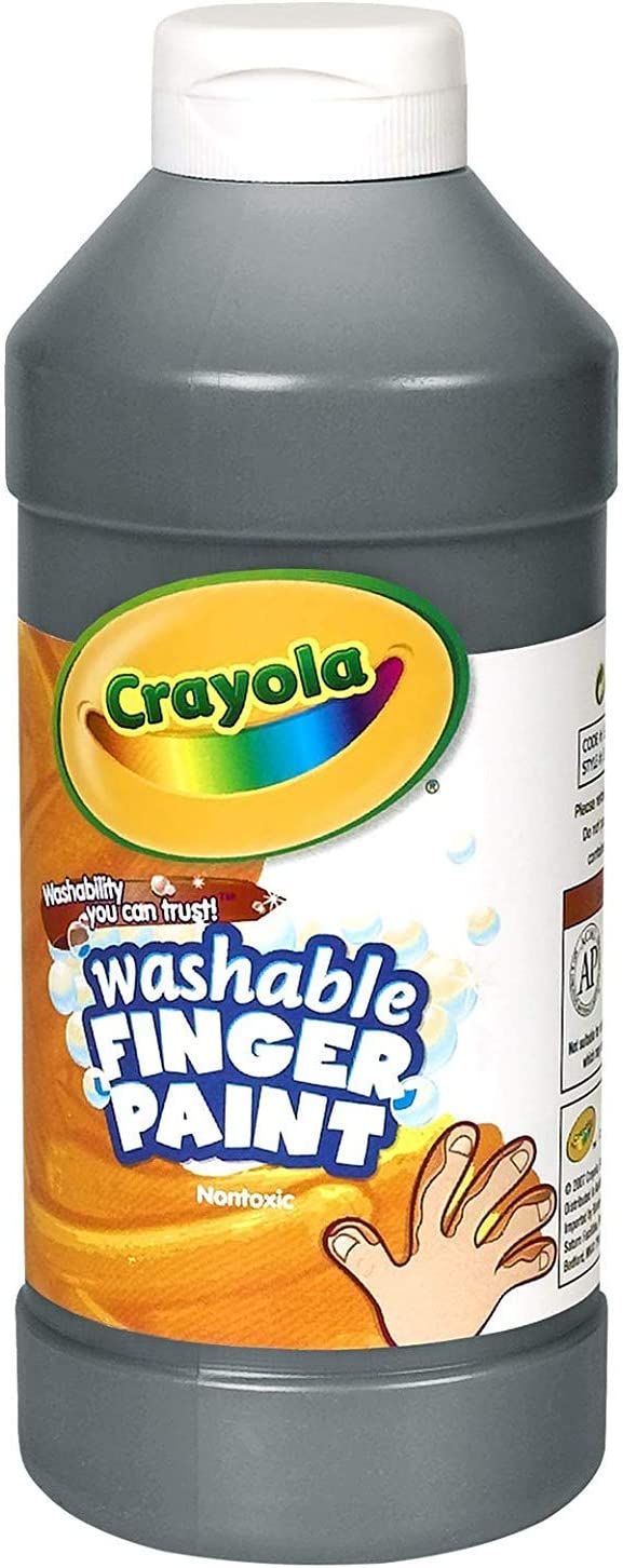 Binney & Smith Crayola(R) Washable Finger Paint, 16 Oz., Black: Toys & Games
