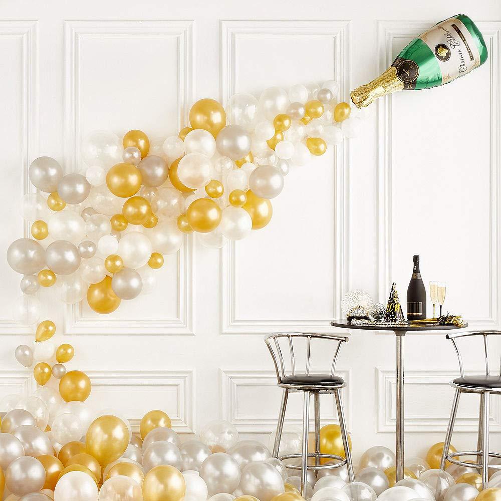 ELEGANI Champagne Bottle Balloon Kit Wedding Ceremony Supplies